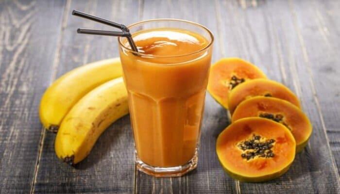 Papaya And Banana Smoothie