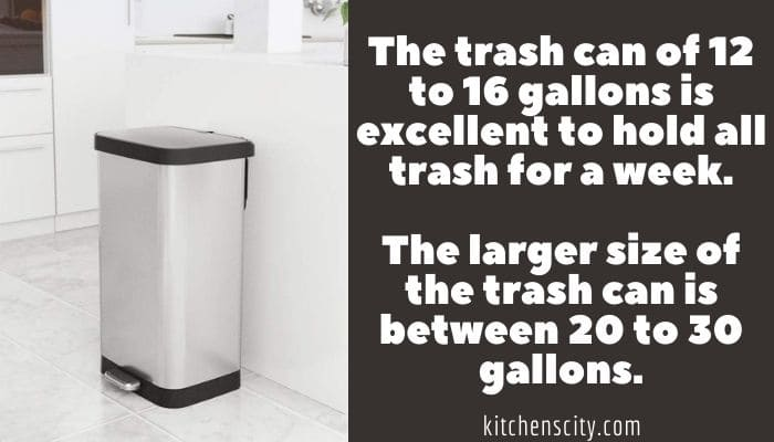 How Big Is A Kitchen Trash Can
